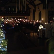 Christmas Eve with carols by candlelight.